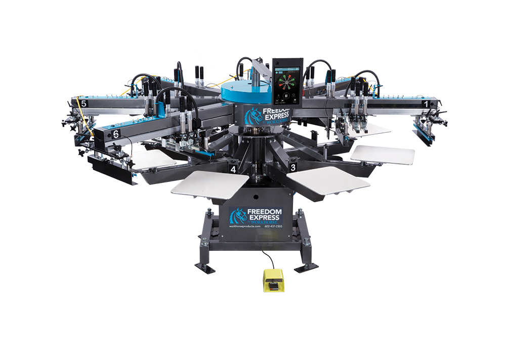 The Freedom Express Automatic Screen Printing Press